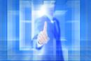 四角形と手 ビジネスマンイメージ CG
