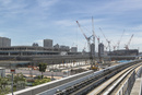 豊洲新市場の建設風景