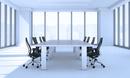 会議室のテーブルと椅子 CG