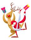 サンタと赤鼻のトナカイ