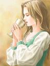 杯の滴を飲む娘(ジェミー・フリール7)