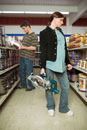 Young couple shopping in hardware store
