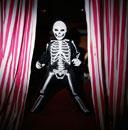 Child in skeleton costume