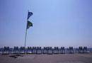 並んだビーチチェアー