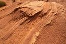 砂漠の砂岩の地層