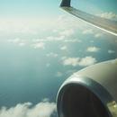 飛行機から見下ろす雲