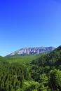 鍵掛峠より望む新緑の大山