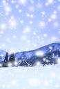 冬の白川郷・降雪