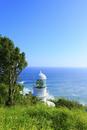 室戸岬灯台と海