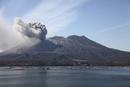Eruption of Sakurajima volcano, Japan.