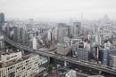 Japan, Tokyo, Shibuya, Cityscape in fog