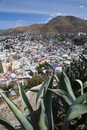 View from above of the rooftops of the city of Guanajuato, Mexico