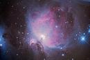 Nebula on starry sky