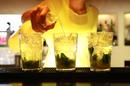 Bartender making cocktails, Marbella, Spain