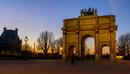 Arc de Triomphe du Carrousel at dusk, Place Charles de Gaulle, Paris, France