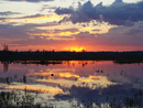 Sunset over lake, Russia