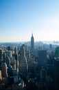 Elevated view at empire state building, New York City, USA