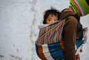 Nomad child at the temple in Tibet