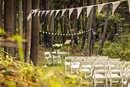 Rows of chairs at wedding ceremony
