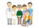 医者と介護士と高齢者夫婦