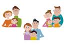 家族、親子の集合