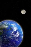 地球と月 07800010722| 写真素材・ストックフォト・画像・イラスト素材|アマナイメージズ