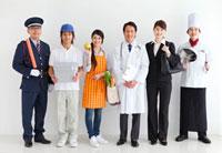 色々な職業の人々 07800016536| 写真素材・ストックフォト・画像・イラスト素材|アマナイメージズ