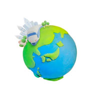 新幹線と地球