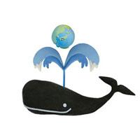 クジラと地球 07800016644| 写真素材・ストックフォト・画像・イラスト素材|アマナイメージズ