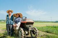 農家の老夫婦