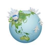 色々な乗り物と地球