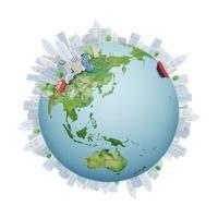 地球と都会