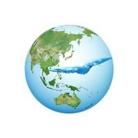 水面と地球