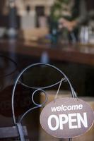 カフェのOPENサイン