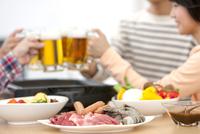 テーブルの上の食材