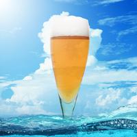 夏の空とビール