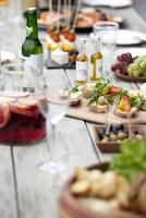テーブルの上の料理
