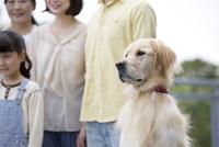 犬と家族 07800055678| 写真素材・ストックフォト・画像・イラスト素材|アマナイメージズ