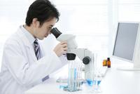 顕微鏡を覗く研究員 07800056533| 写真素材・ストックフォト・画像・イラスト素材|アマナイメージズ