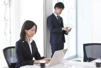 仕事しているビジネスウーマン 07800058113| 写真素材・ストックフォト・画像・イラスト素材|アマナイメージズ