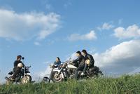 バイクと若者