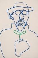 ワイヤーで作られた双葉を持つ男性 09501010864| 写真素材・ストックフォト・画像・イラスト素材|アマナイメージズ