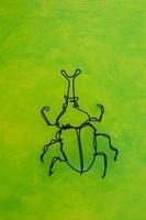 ワイヤーで作られたカブト虫