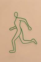 ワイヤーで作られた走る人
