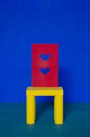ハートの子供用の椅子