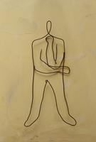 ワイヤーで作った腕を組む人 09501011238| 写真素材・ストックフォト・画像・イラスト素材|アマナイメージズ