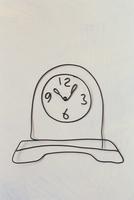 ワイヤーで作った置時計  09501011301| 写真素材・ストックフォト・画像・イラスト素材|アマナイメージズ