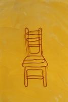 ワイヤーで作った椅子