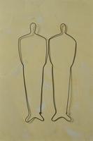 ワイヤーで作った2人の人物
