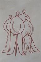 ワイヤーで作ったシニアと家族 09501011363| 写真素材・ストックフォト・画像・イラスト素材|アマナイメージズ